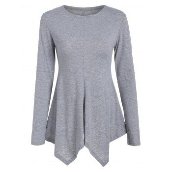 Long Sleeve Peplum T-Shirt
