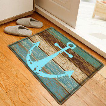 Deck Anchor Pattern Water Absorbing Bathroom Floor Mat