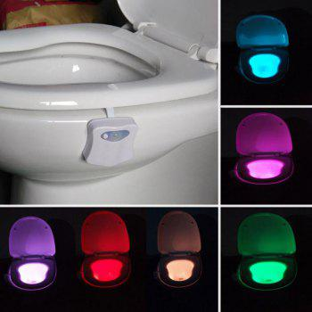Motion Sensor Colorful LED Automatic Toilet Light