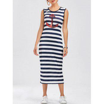 Anchor Sequin Striped Dress