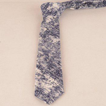 Necktie Handkerchief Bowtie with Striation Printed -  CADETBLUE