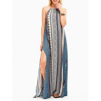 Bohemia Halter High Slit Backless Maxi Dress