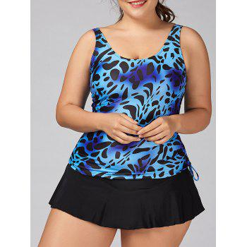 Plus Size Leopard Skirty Tankini Set
