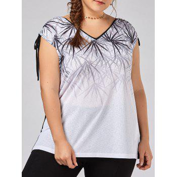 Plus Size Tie Shoulder Bamboo Sleeveless T-shirt