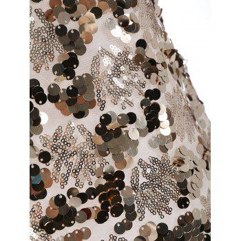 Shiny Sequins Glitter Slip Club Dress - L L