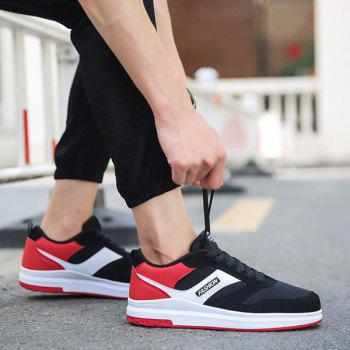 Mesh Tie Up Breathable Casual Shoes - RED 44