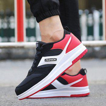 Mesh Tie Up Breathable Casual Shoes - RED 43