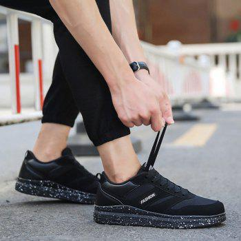 Mesh Tie Up Breathable Casual Shoes - BLACK 43