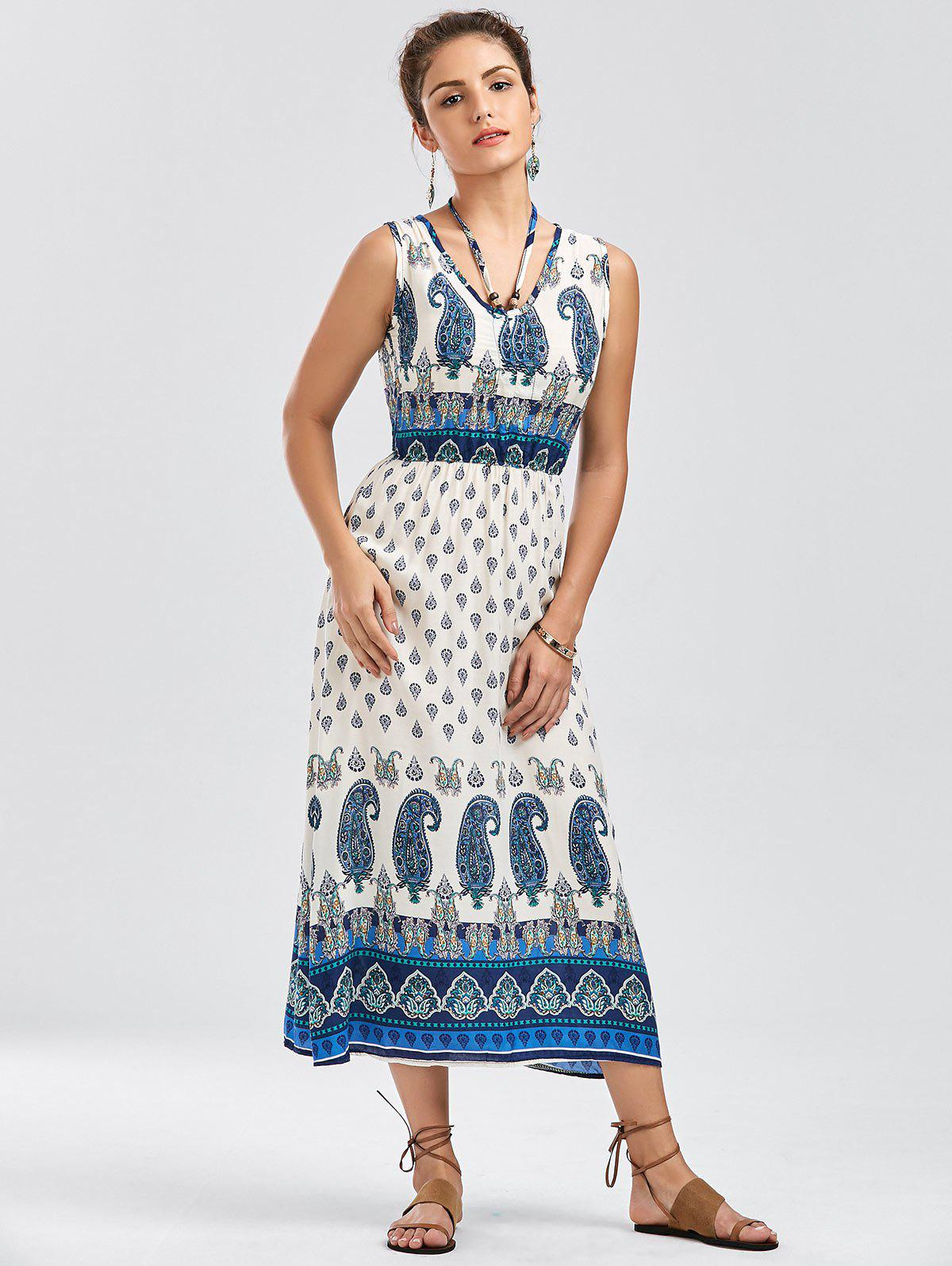 Bohemian Tribal Paisley Print Dress - COLORMIX S