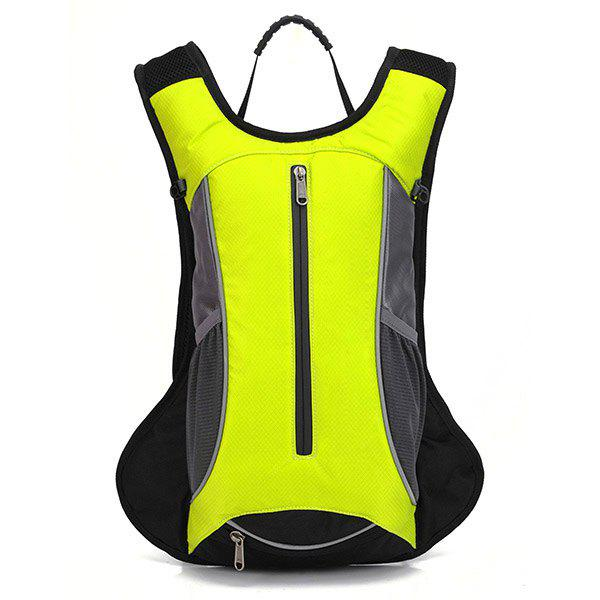 High Quality 10L Waterproof Outdoor Travel Sport Basketball Backpack Fixed Gear Cycling Bag - FLUORESCENT YELLOW
