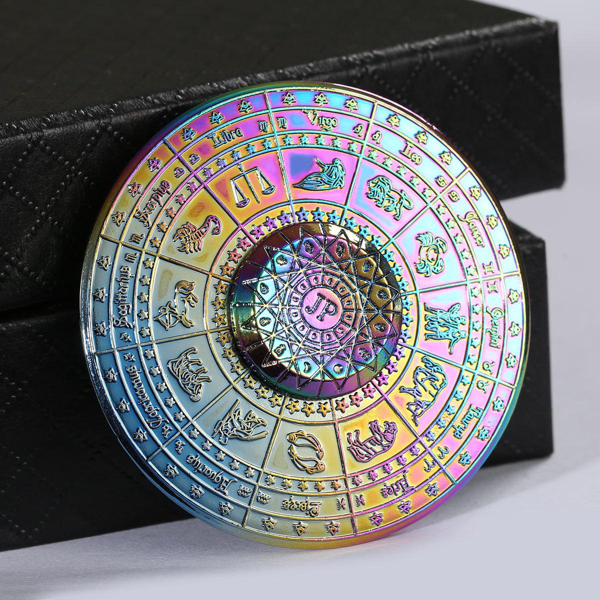 Alloy Fidget Hand Spinner with 12 Constellation Print - COLORFUL 5.5*5.5*1.5CM