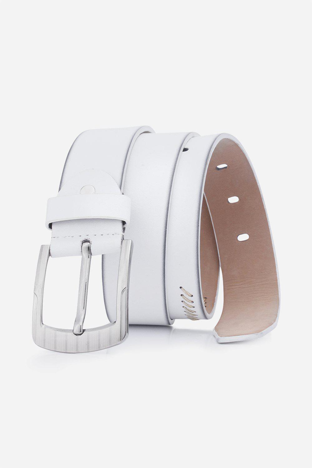 Retro Sewing Thread Wide Belt - WHITE