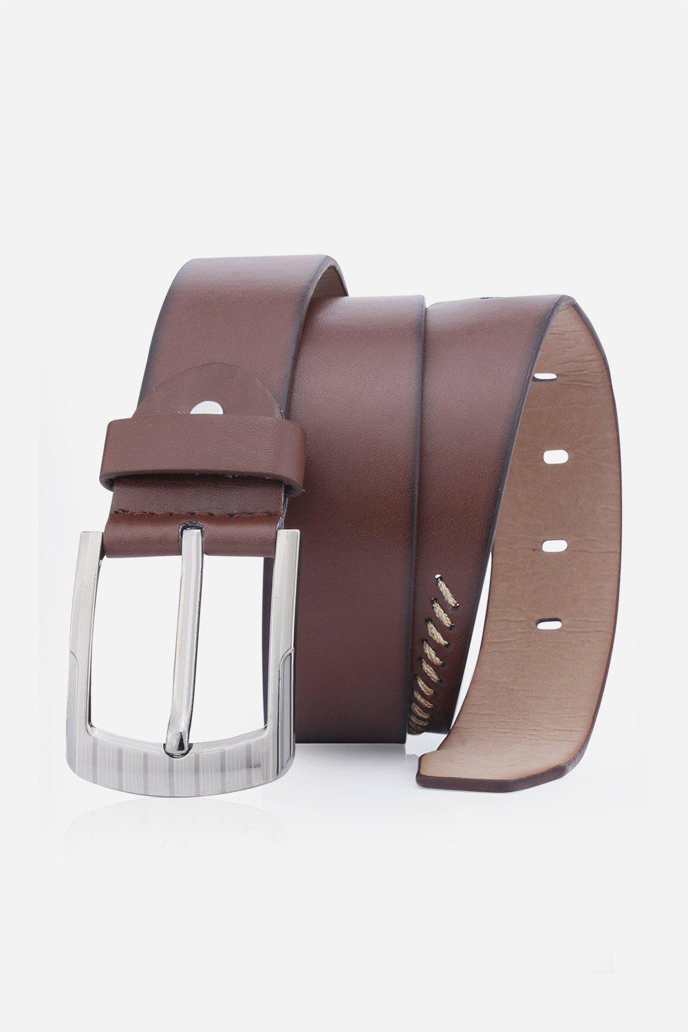 Retro Sewing Thread Wide Belt - COFFEE