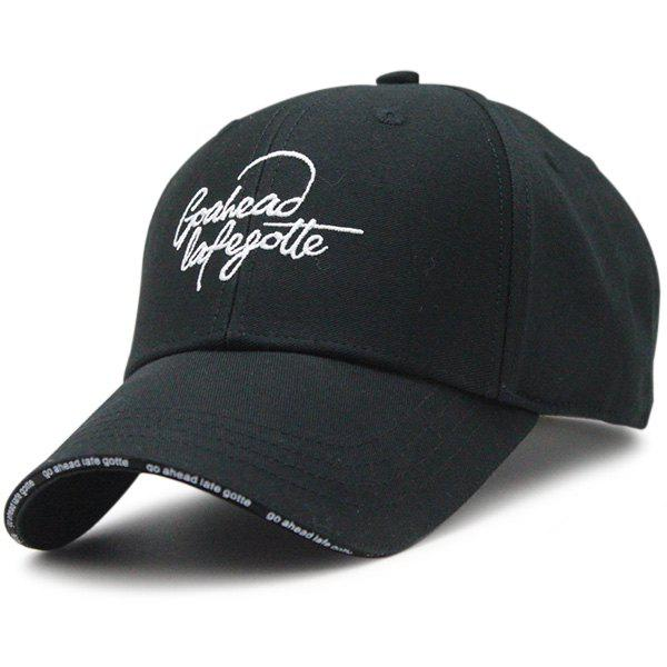 Outdoor Letters Embroidered Baseball Hat letters behind gesture embroidered baseball hat