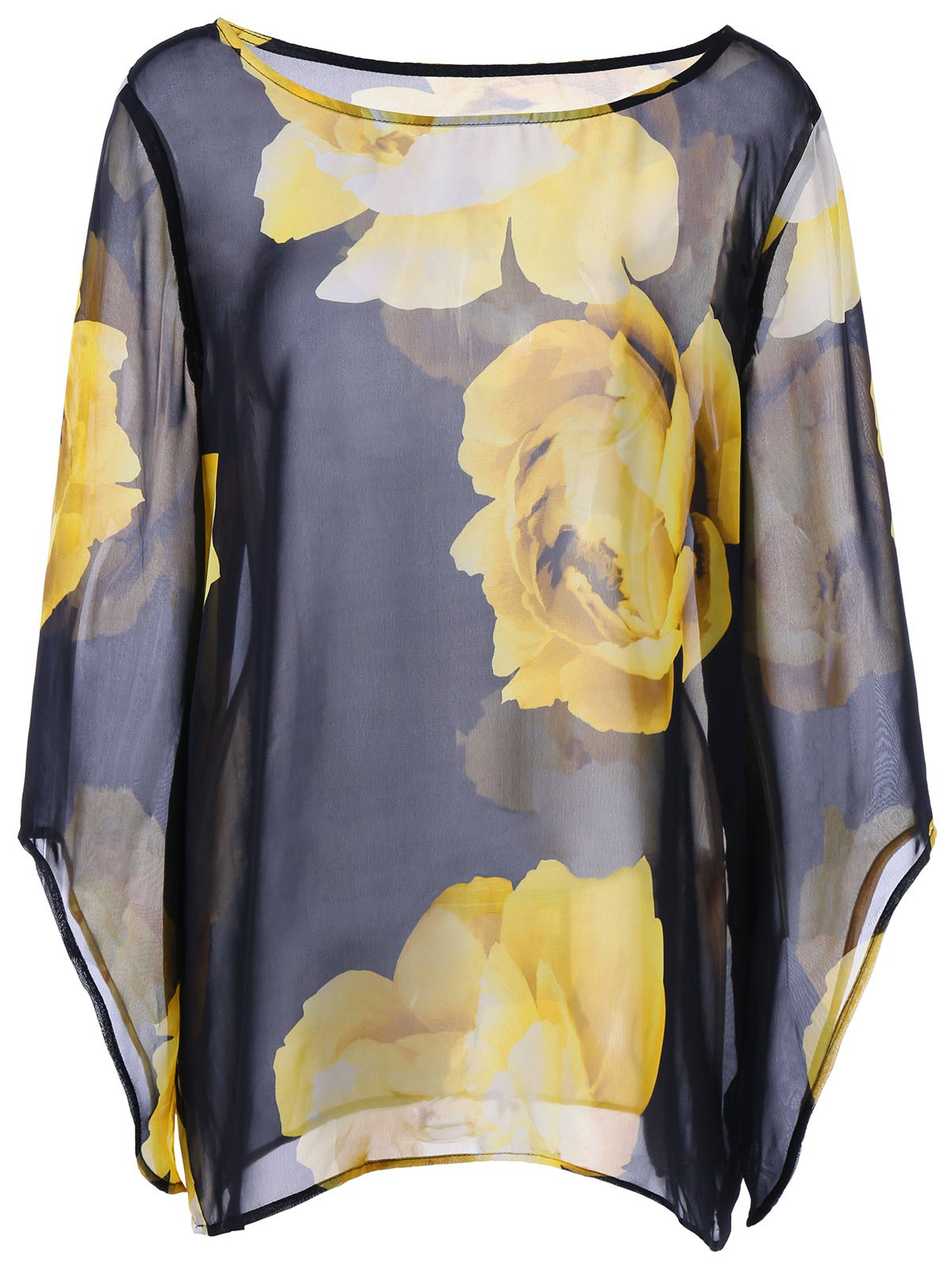 Floral Sheer Plus Size Dolman Sleeve Top коммутатор mikrotik crs125 24g 1s in