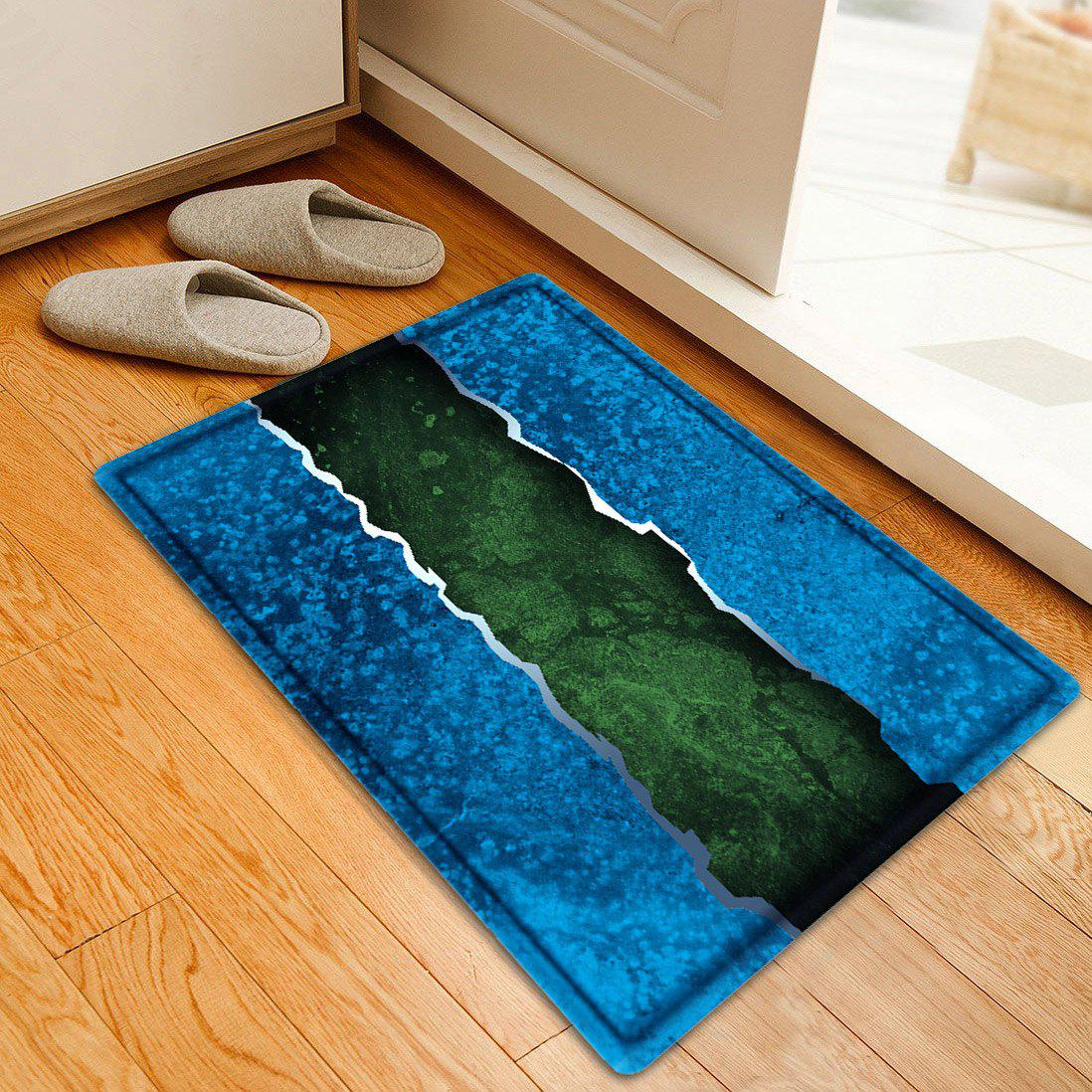 2018 color block bathroom flannel floor mat blue w inch l inch in bath rugs mats online