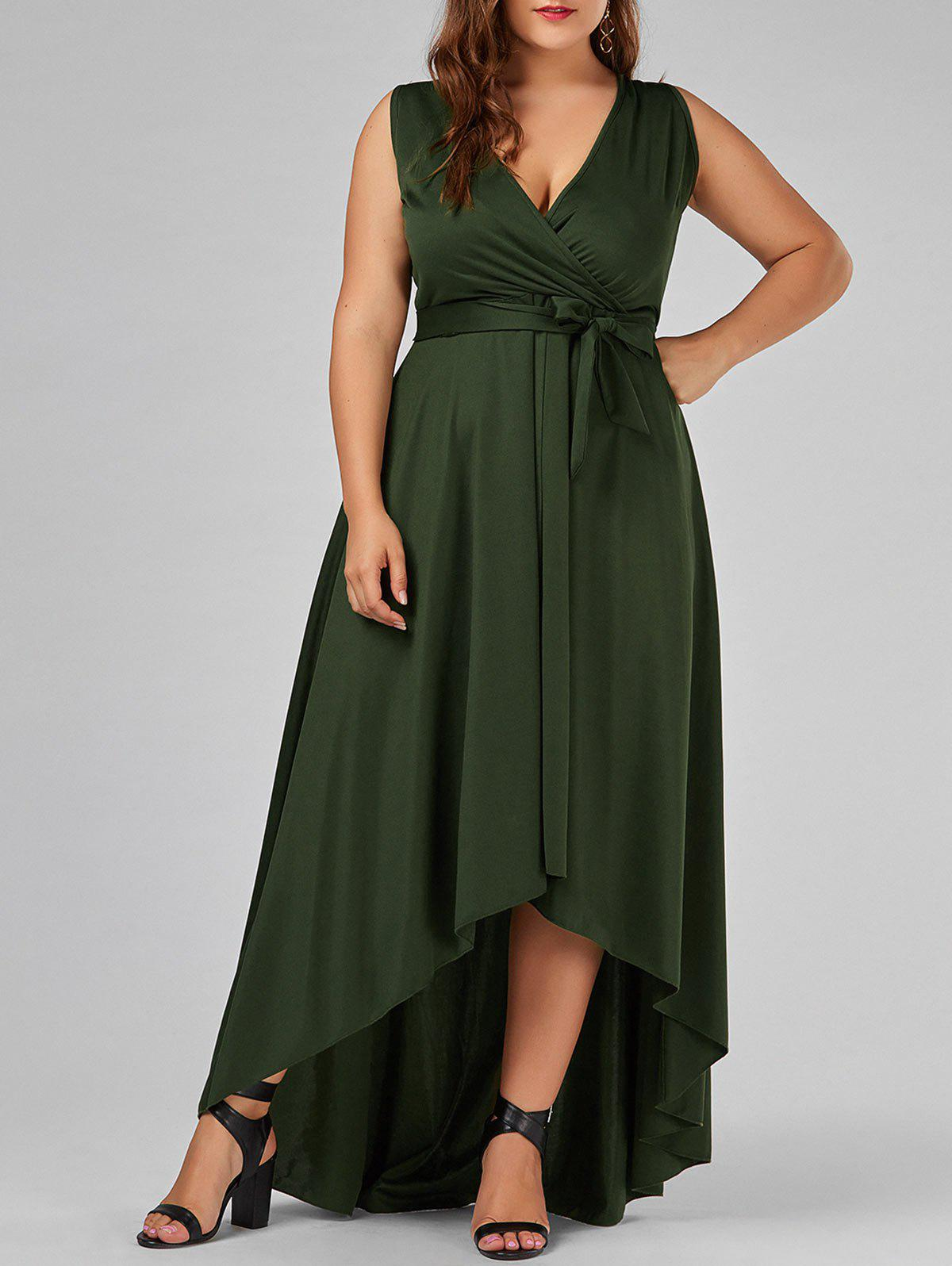 Green dress plus size in store