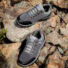 Colour Block Faux Suede Athletic Shoes - GRAY 40