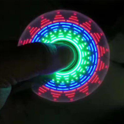 Electroplated Fidget Spinner with 18 Patterns LED Light - BLUE
