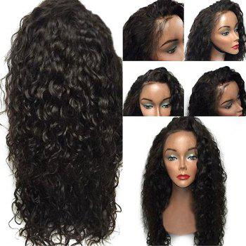 Lace Front Long Free Part Layered Shaggy Curly Synthetic Wig - BLACK
