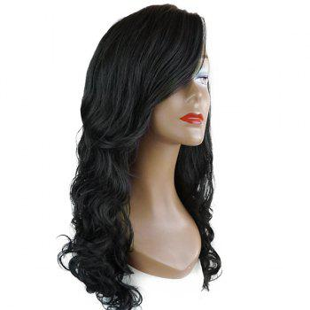 Long Deep Side Parting Wavy Lace Front Synthetic Wig