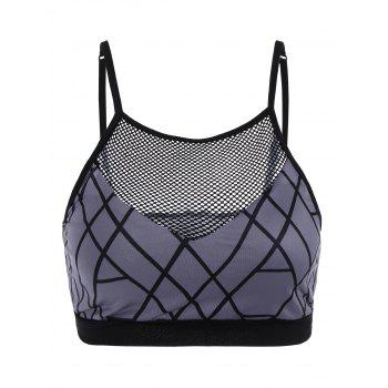 Fishnet Front Sport Cropped Tank Top