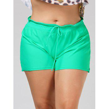 Drawstring Plus Size Swim Shorts