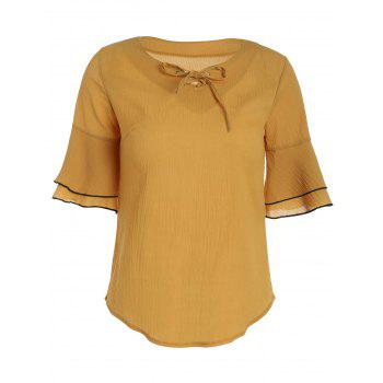 Flare Sleeve Self Tie Blouse