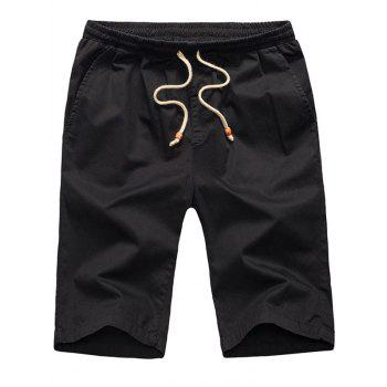 Pockets Design Lace Up Casual Shorts