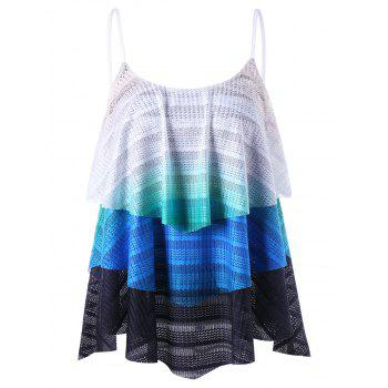 Chevron Layered Flowy Tank Top