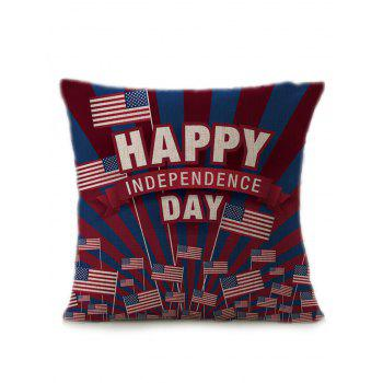 Independence Day Patriotic American Flag Pillow Case - MULTICOLOR multicolorCOLOR