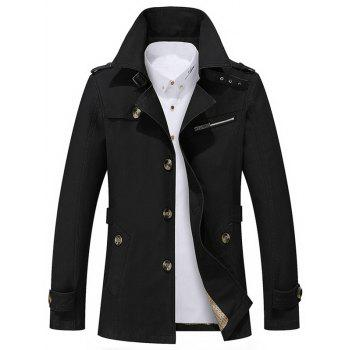 Notch Collar Button Up Slim Fit Jacket