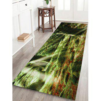 Sunshine Trees Coral Fleece Water Absorption Bath Rug