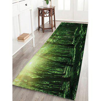 Forest Sunshine Long Coral Velvet Bath Rug