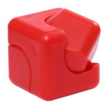 Stress Relief Plastic Cube Hand Spinner -  RED