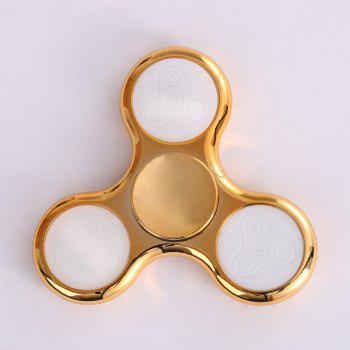 Electroplated Fidget Spinner with 18 Patterns LED Light -  GOLDEN