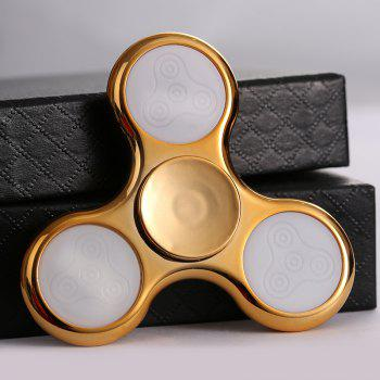 Spinner Fidget galvanisé avec 18 Patterns LED Light - Or