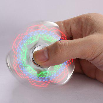Electroplated Fidget Spinner with 18 Patterns LED Light - SILVER SILVER