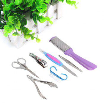 7Pcs Stainless Steel Nail Care Manicure Tools 1 Set - STAINLESS STEEL STAINLESS STEEL