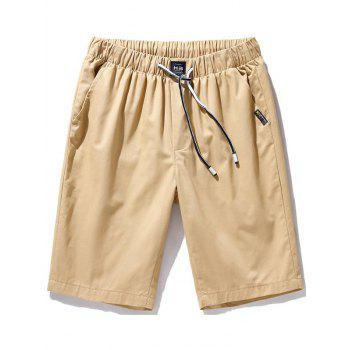 Casual Drawstring Waist Chino Shorts