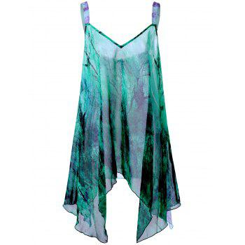 Plus Size Graphic Handkerchief Flowy Tank Top