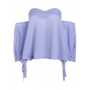 Stripe Off Shoulder Blouse