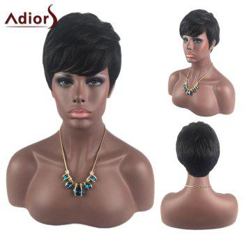 Adiors Oblique Bang Short Layered Straight Synthetic Wig