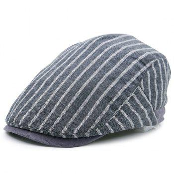 Retro Striped Flat Newsboy Hat