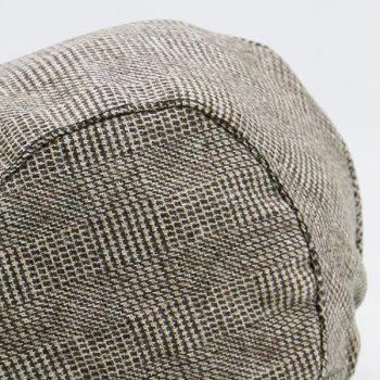 Vintage Checked Flat Hat - COFFEE
