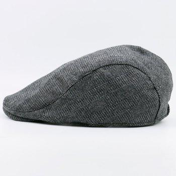 Vintage Checked Flat Hat - PEARL DARK GREY