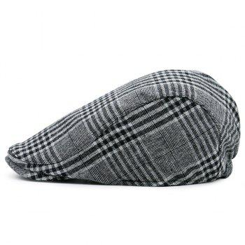 Plaid Striped Retro Newsboy Hat