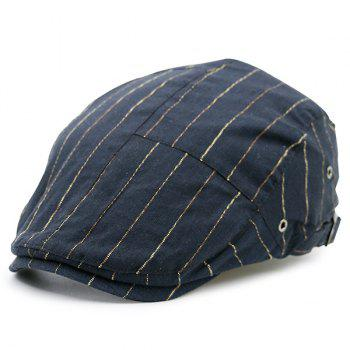 Retro Shimmer Striped Newsboy Hat