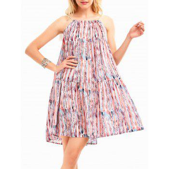 Halter Bohemia Print Tunic Swing Dress