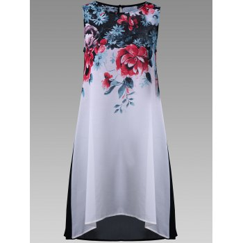 Floral Sheer Sleeveless Long Top